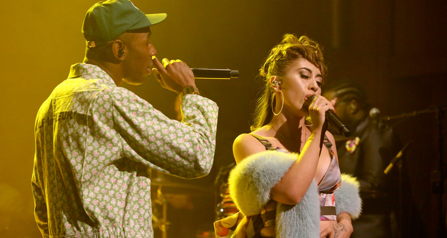 e7ea63cec371 Kali Uchis is flanked by Tyler